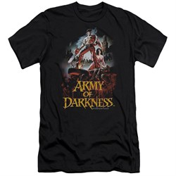 Image of Army Of Darkness Slim Fit Shirt Bloody Poster Black T-Shirt