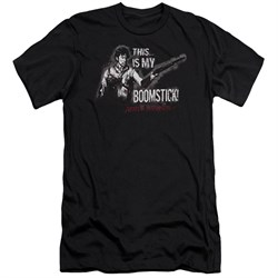Image of Army Of Darkness Slim Fit Shirt Boomstick Black T-Shirt
