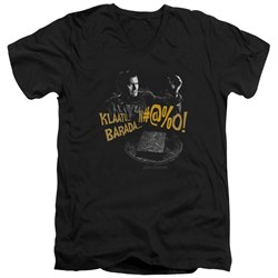 Image of Army Of Darkness Slim Fit V-Neck Shirt Klaatu...Barada Black T-Shirt