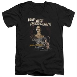 Image of Army Of Darkness Slim Fit V-Neck Shirt Reeeal Ugly! Black T-Shirt