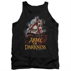 Image of Army Of Darkness Tank Top Bloody Poster Black Tanktop