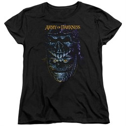 Image of Army Of Darkness Womens Shirt Evil Ash Black T-Shirt