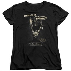 Image of Army Of Darkness Womens Shirt Want Some Black T-Shirt