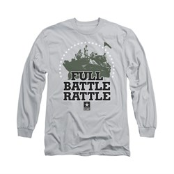 Army Shirt Full Battle Long Sleeve Silver Tee T-Shirt