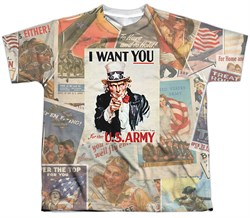 Image of Army Shirt I Want You Sublimation Youth T-Shirt