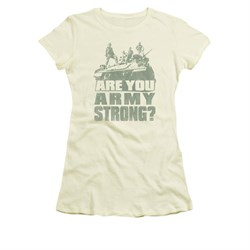 Image of Army Shirt Juniors Are You Cream T-Shirt