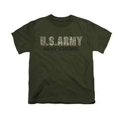 Image of Army Shirt Kids Camo Army Strong Olive T-Shirt