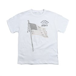 Image of Army Shirt Kids Flag White T-Shirt