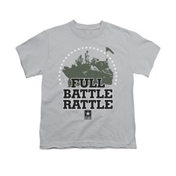 Image of Army Shirt Kids Full Battle Silver T-Shirt