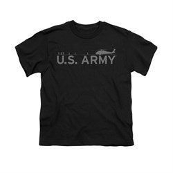 Image of Army Shirt Kids Helicopter Black T-Shirt