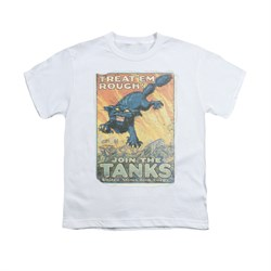 Image of Army Shirt Kids Treat Em' Rough White T-Shirt