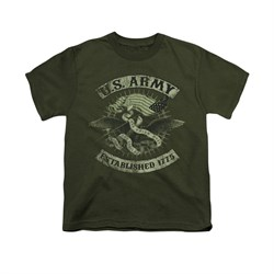 Image of Army Shirt Kids Union Eagle Olive T-Shirt