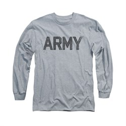 Image of Army Shirt PT Gear Long Sleeve Athletic Heather Tee T-Shirt