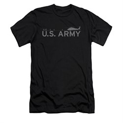 Image of Army Shirt Slim Fit Helicopter Black T-Shirt