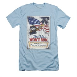 Image of Army Shirt Slim Fit Pearl Harbor Light Blue T-Shirt