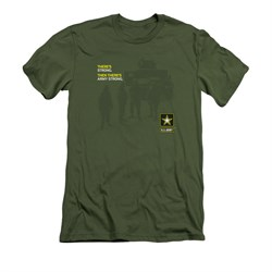 Image of Army Shirt Slim Fit What Kind Of Strong Olive T-Shirt