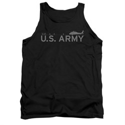 Image of Army Shirt Tank Top Helicopter Black Tanktop