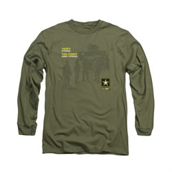 Image of Army Shirt What Kind Of Strong Long Sleeve Olive Tee T-Shirt