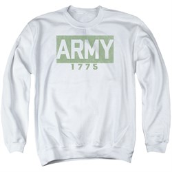 Image of Army Sweatshirt 1775 Adult White Sweat Shirt