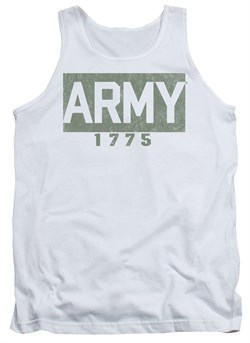 Image of Army Tank Top 1775 White Tanktop