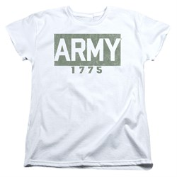 Image of Army Womens Shirt 1775 White T-Shirt