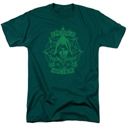 Arrow Shirt Archer Illustration Hunter Green T-Shirt