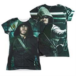 Image of Arrow Shirt Hooded Sublimation Juniors Shirt