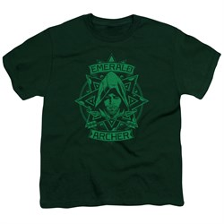 Image of Arrow Shirt Kids Archer Illustration Hunter Green T-Shirt