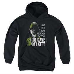 Image of Arrow Youth Hoodie Save My City Black Kids Hoody