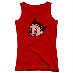 Image of Astro Boy Juniors Tank Top Face Red Tanktop