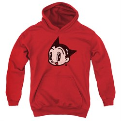 Image of Astro Boy Kids Hoodie Face Red Youth Hoody