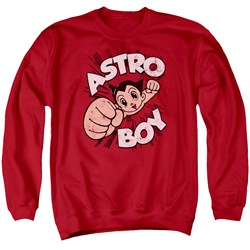 Image of Astro Boy Sweatshirt Flying Adult Red Sweat Shirt