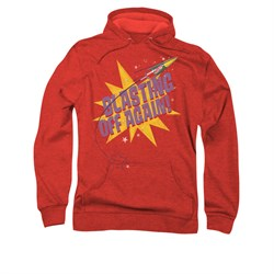 Image of Astro Pop Hoodie Blast Off Red Sweatshirt Hoody
