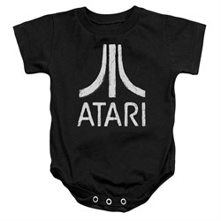 Image of Atari Baby Romper Rough Logo Black Infant Babies Creeper