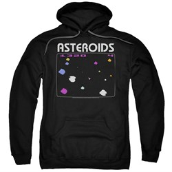 Image of Atari Hoodie Asteroids Screen Black Sweatshirt Hoody