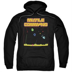 Image of Atari Hoodie Missile Screen Black Sweatshirt Hoody