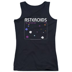 Image of Atari Juniors Tank Top Asteroids Screen Black Tanktop