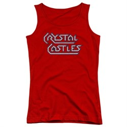 Image of Atari Juniors Tank Top Crystal Castles Logo Red Tanktop