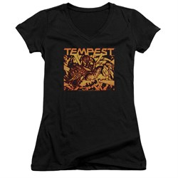 Image of Atari Juniors V Neck Shirt Tempest Demon Reach Black T-Shirt