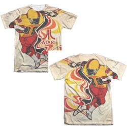 Image of Atari Shirt Football Poly/Cotton Sublimation Shirt Front/Back Print