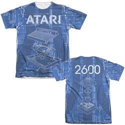 Image of Atari Shirt Inside Out Poly/Cotton Sublimation T-Shirt Front/Back Print