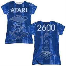 Image of Atari Shirt Inside Out Sublimation Juniors T-Shirt Front/Back Print