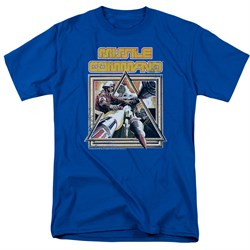 Image of Atari Shirt Missile Commander Royal Blue T-Shirt