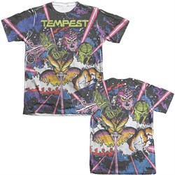Image of Atari Shirt Tempest Key Art Poly/Cotton Sublimation T-Shirt Front/Back Print