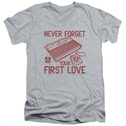 Image of Atari Slim Fit V-Neck Shirt First Love Athletic Heather T-Shirt