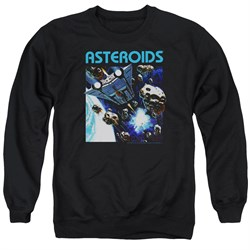 Image of Atari Sweatshirt 2600 Asteroids Adult Black Sweat Shirt