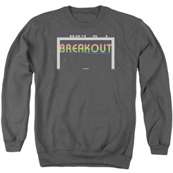 Image of Atari Sweatshirt Breakout 2600 Adult Charcoal Sweat Shirt
