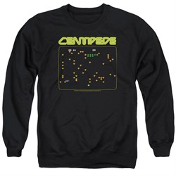 Image of Atari Sweatshirt Centipede Screen Adult Black Sweat Shirt