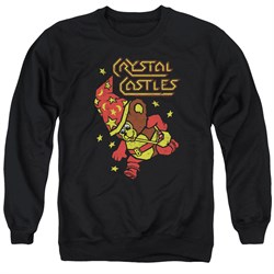 Image of Atari Sweatshirt Crystal Bear Adult Black Sweat Shirt