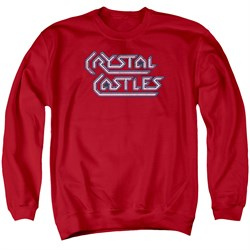 Image of Atari Sweatshirt Crystal Castles Logo Adult Red Sweat Shirt